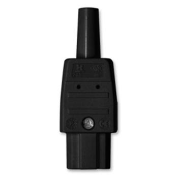 Heißgeräte-Stecker, Iso, schwarz