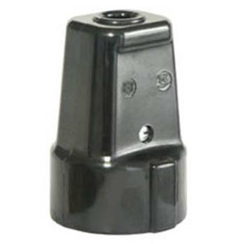 Schutzkontakt-Kupplung, Iso, schwarz