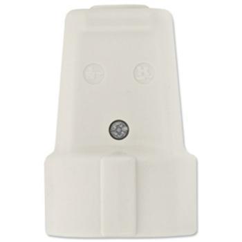 Schutzkontakt-Kupplung, Iso, weiß