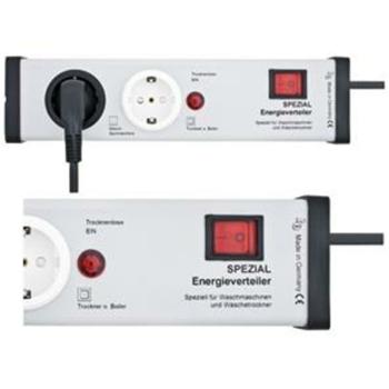 Energieverteiler, 2-fach, grau/schwarz