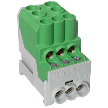 Unterverteilerblock, 1-polig, grün, 100A