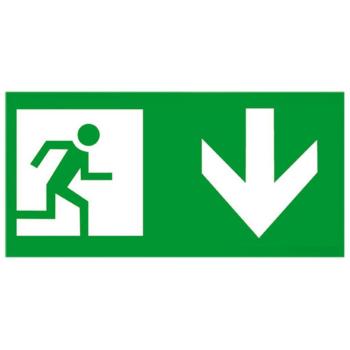 Piktogramm für Notleuchten, Pfeil unten