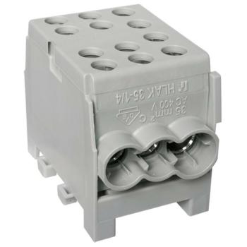Hauptleitungs-Abzweigklemme, 1-polig, 35², grau