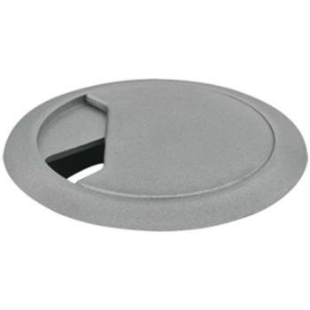 Kabeldurchführung für Tischplatten, silber
