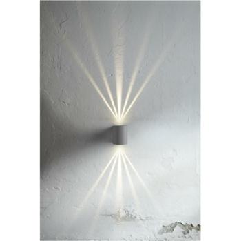 Außenwandleuchte CANTO 2, grau 2 x LED/6W