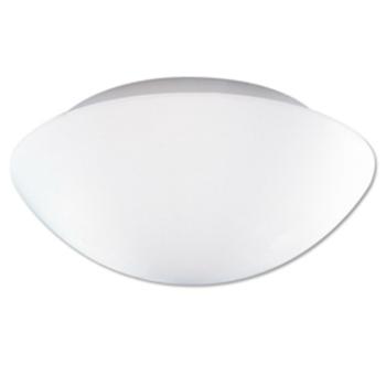 Opalglasleuchte 2 x E27, Metall weiß