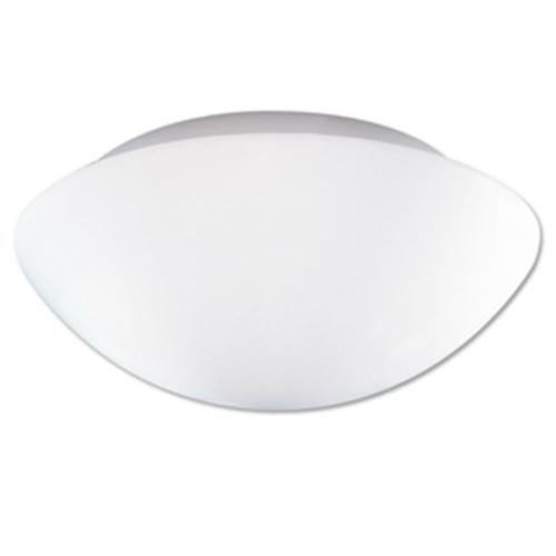 Opalglasleuchte 1 x E14, Metall weiß