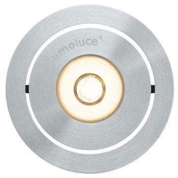 LED Einbauspot, 1 x LED/3,3W-2700K, Aluminium gebürstet
