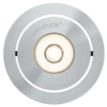 LED Einbaustrahler, 1 x LED/3,3W-3000K, Aluminium...
