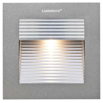 LED Wandeinbaustrahler, 1 x LED/3,3W-2700K, Aluminium...
