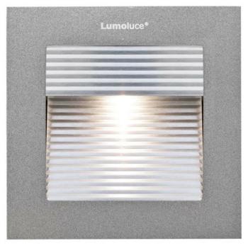 LED Wandeinbaustrahler, 1 x LED/3,3W-3000K, Aluminium...