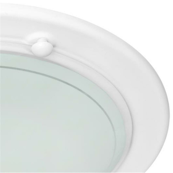 Trio Deckenleuchte 1 x E27, Metall weiß, Glas opal 6101011-01