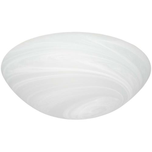 Deckenleuchte 2 x E27, Metall weiß, Glas Pergament