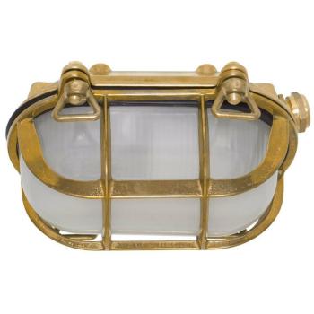 Moretti Schiffsarmatur, 1 x E27, Altmessingguss, Glas...