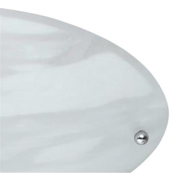 Trio Deckenleuchte 1 x E27, Nickel matt, alabasterart weiß 6196011-07