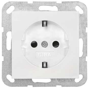 Gira Kombi-Schutzkontaktsteckdose, reinweiß, System 55