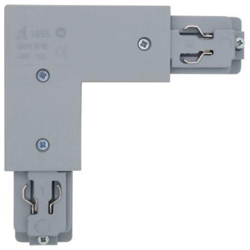 Ivela 3-Phasen L-Verbinder, silber, links