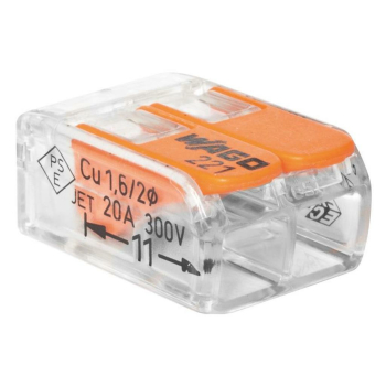 Wago 221-412 COMPACT Verbindungsklemme, 2 x 0,02 bis 4...