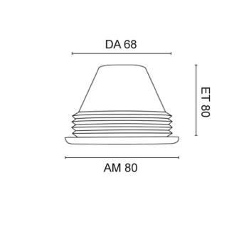 Silikon-Einbaustrahler, 1 x GU10/, transparent