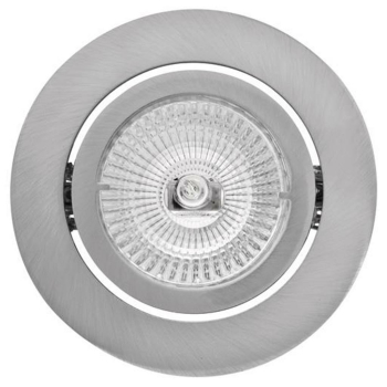 Rutec Einbaustrahler aus Aluminium, 1 x GU5,3/12V, schwenkbar, eisen natur