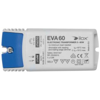 Elektronischer NV-Trafo ETZ60, 11,5V/0-60W, dimmbar