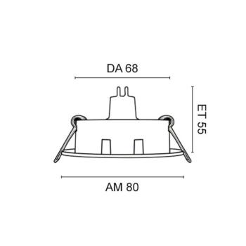 Rutec Einbaustrahler, 1 x GU5,3/12V, schwenkbar, Metall weiß
