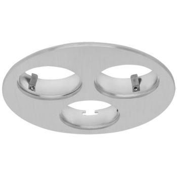 LED Einbauhalterung für 3 x LED/2,5W, Aluminium gebürstet