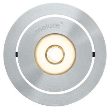 LED Einbaustrahler, 1 x LED/2900K, Aluminium gebürstet