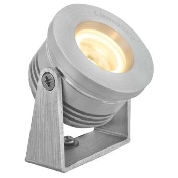 LED Anbaustrahler, 1 x LED/2900K, Aluminium gebürstet