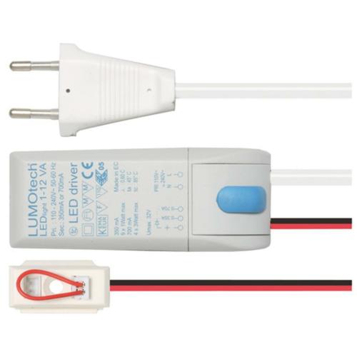 LED Netzteil, 12V/350/700mA-Konstantstrom, elektronisch