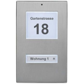 LED Klingeltaster, 1-fach, Edelstahl, KT 1.1 EG