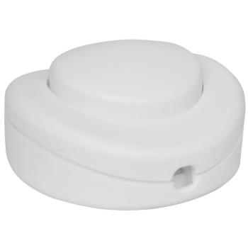 Fuß-Schnurschalter, 2A, mit PE/N-Klemme, weiß