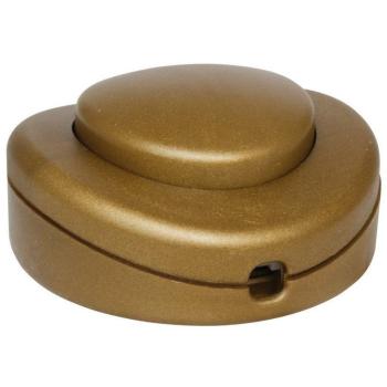 Fuß-Schnurschalter mit PE/N-Klemme, gold, 2A