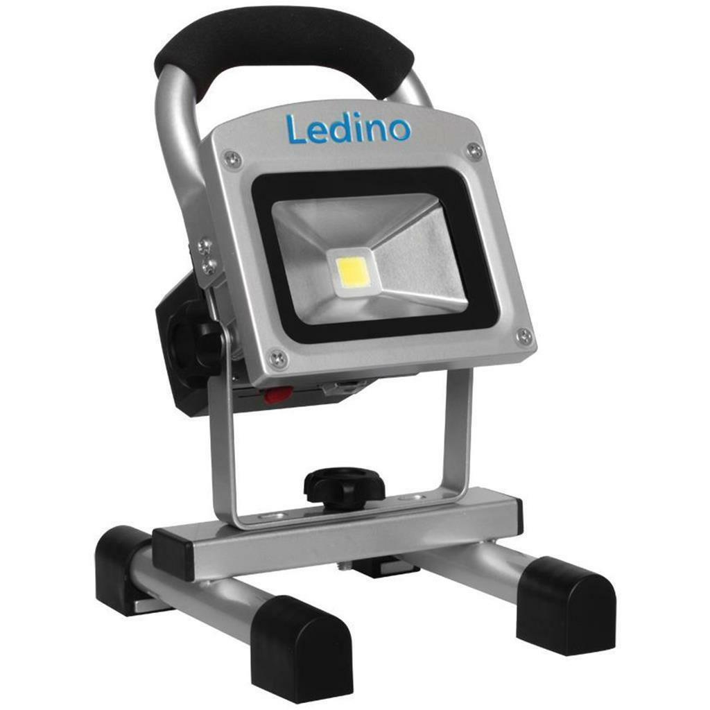ledino led akku strahler 10w mit li ion akku 5 2ah lampen leuchte 81 90. Black Bedroom Furniture Sets. Home Design Ideas