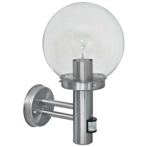 au enwandleuchte mit bewegungsmelder edelstahl lampen leuchten un 32 64. Black Bedroom Furniture Sets. Home Design Ideas