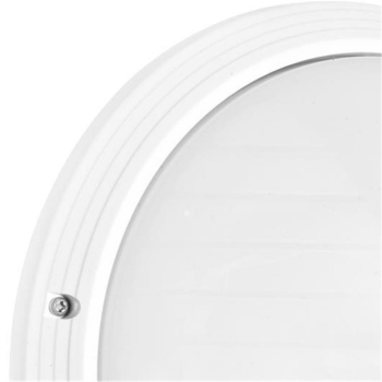 Ivela Außenleuchte 1 x E27, weiß, Abdeckung opal