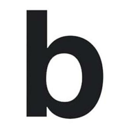 Buchstabe b für Hausnummernleuchte H 75, schwarz