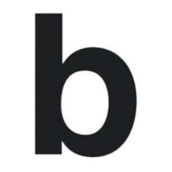Buchstabe b für Hausnummernleuchte H 100,  schwarz
