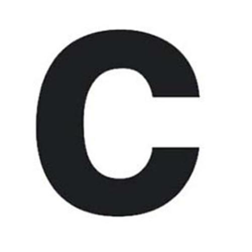 Buchstabe c für Hausnummernleuchte H 100, schwarz
