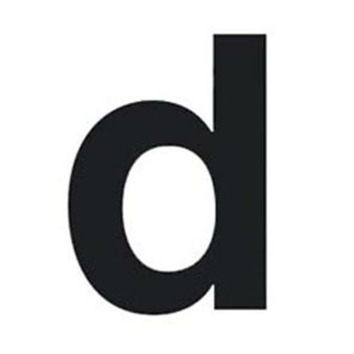 Buchstabe d für Hausnummernleuchte H 75, schwarz