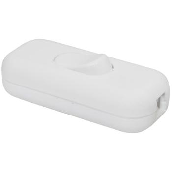Schnurschalter, 1-polig mit P/N-Klemme, weiß 3 x...