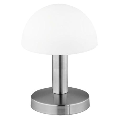 Tischleuchte FYNN 1 x E14, Metall Nickel matt, Glas weiß 599000107