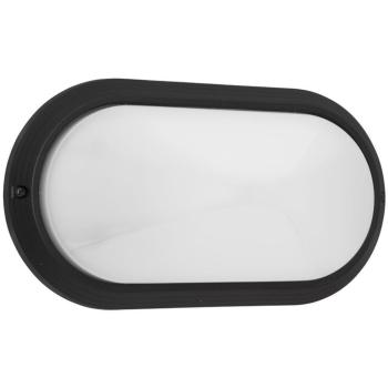 Außenwandleuchte schwarz/opal, IP65, 1 x E27, Ivela