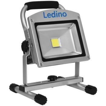 Ledino LED Arbeitsstrahler mit Li-Ion-Akku, 20W