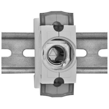 Einbausicherungssockel, 1-polig, D02/63A
