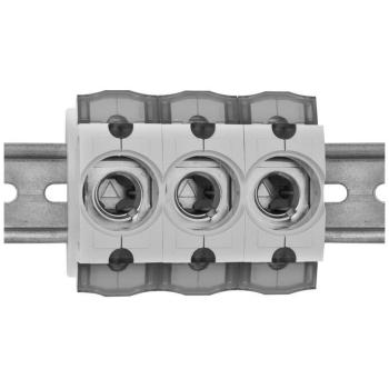 Einbausicherungssockel, 3-polig, D02/63A