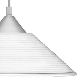 Pendelleuchte DIEGO 1 x E27, Kunststoff silber, Glas weiß Trio Leuchten 301400101