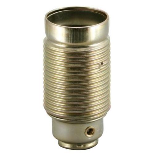 Metallfassung, E14, vermessingt, mit Außengewinde