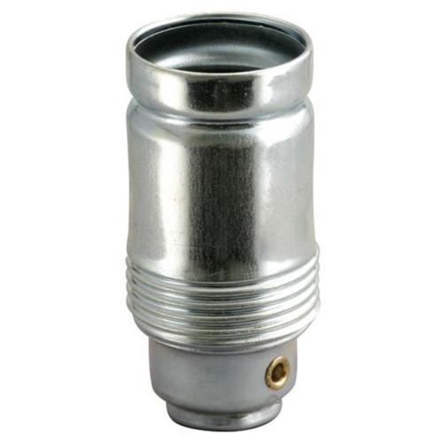 Metallfassung, E14, verzinkt, ohne Außengewinde