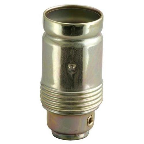 Metallfassung, E14, vermessingt, ohne Außengewinde